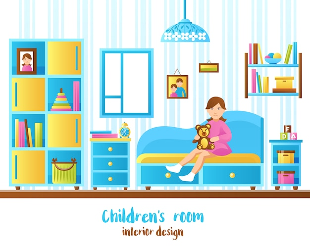 Baby room interior illustration