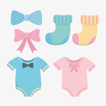Baby shower card con accessori set