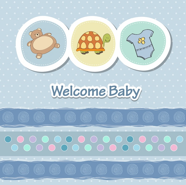 Baby shower card con animali divertenti