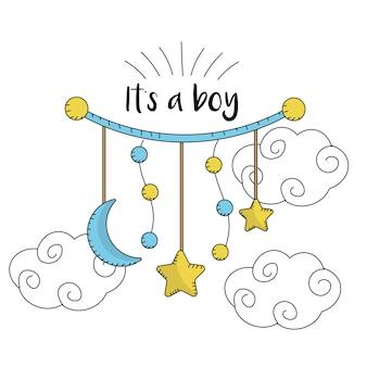 Baby shower card per dare il benvenuto a un ragazzo