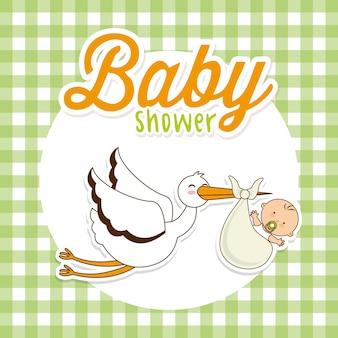 Baby shower elemento semplice