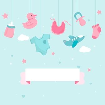 Baby shower tema copia spazio