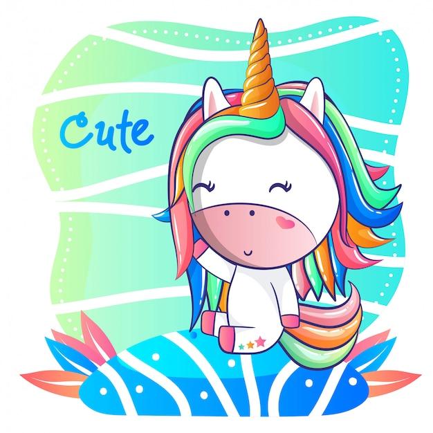 Baby shower unicorno bambino carino