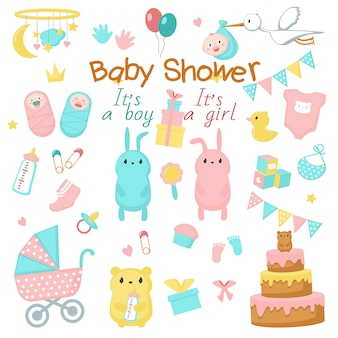 Baby showericon set