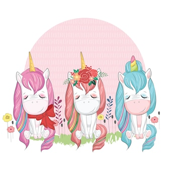 Baby unicorn three packs