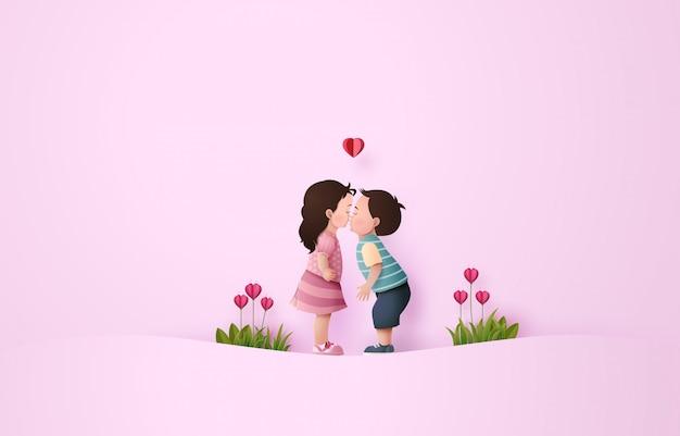 Babygirl e babyboy baciare