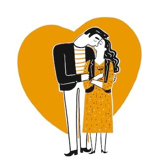 Bacio delle coppie