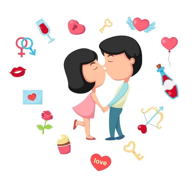 Bacio vettoriale