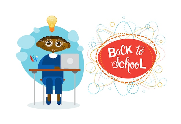 Back to school african american pupil boy