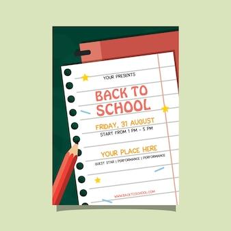 Back to school priorità bassa di carta dell'aletta di filatoio di evento