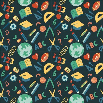 Back to school vector element pattern