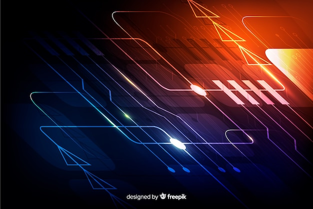 Backgrond realistico del circuito del gradiente