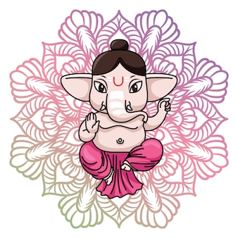 Background design Ganesha