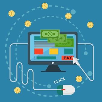 Background design shopping online