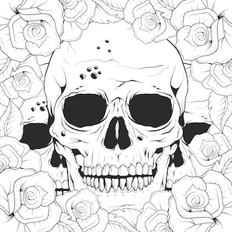 Background design skull