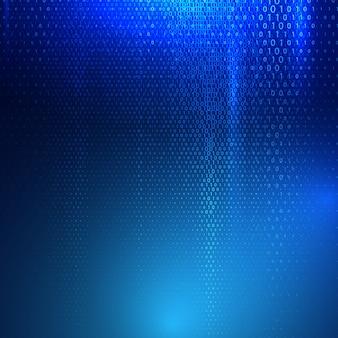 Background techno con testo astratto codice binario