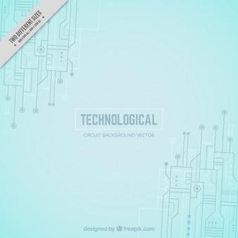 Background tecnologico con circuiti e connessioni