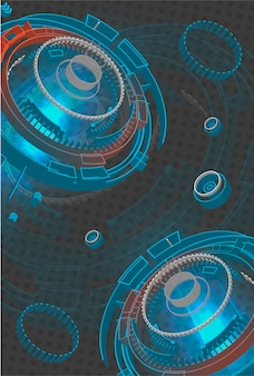 Background tecnologico futuristico