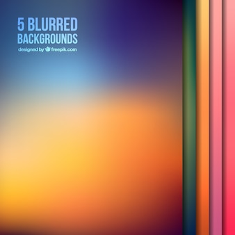 Backgrounds collection blurred