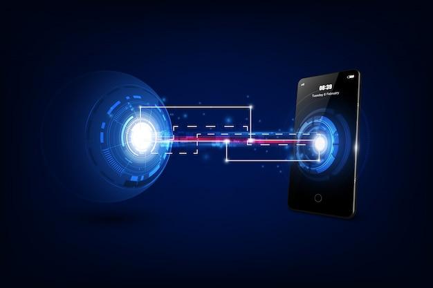 Backup dei dati dagli smartphone ai server di backup per la sicurezza dei dati.