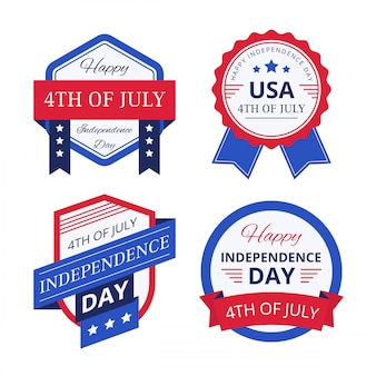 Badge 4th of luglio giorno di indipendenza