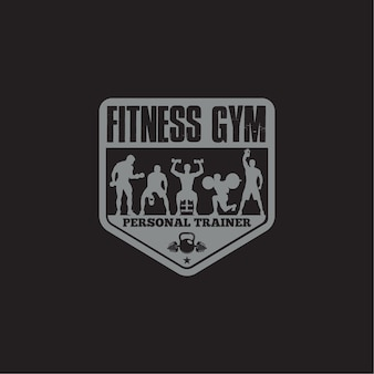 Badge con logo fitness e palestra