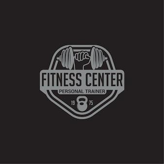 Badge con logo fitness e palestra
