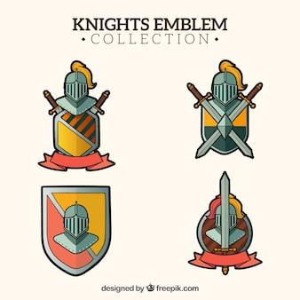 Badge confezione di scudi di cavalieri