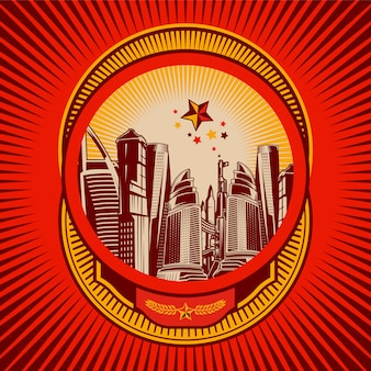 Badge del paesaggio urbano