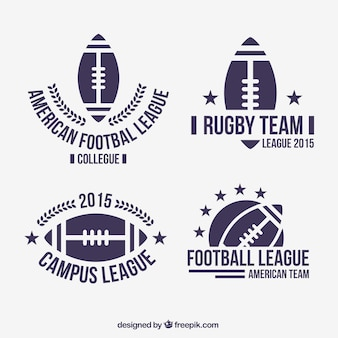 Badge di football americano