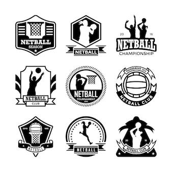 Badge netball