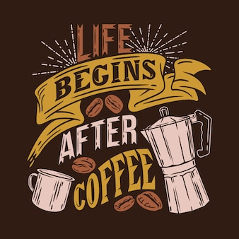 Bagins di vita dopo il caffè dicendo citazioni