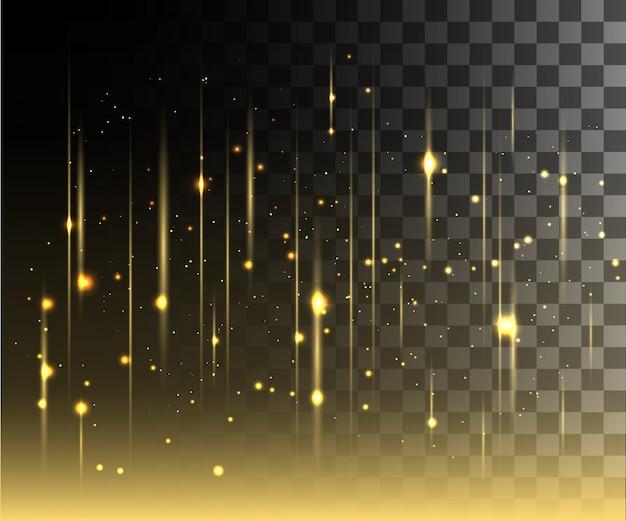Bagliore bianco effetto trasparente, riflesso lente, esplosione, glitter, linea, lampo solare, scintilla e stelle. per l'arte del modello dell'illustrazione, per festeggiare il natale, il raggio magico di energia flash