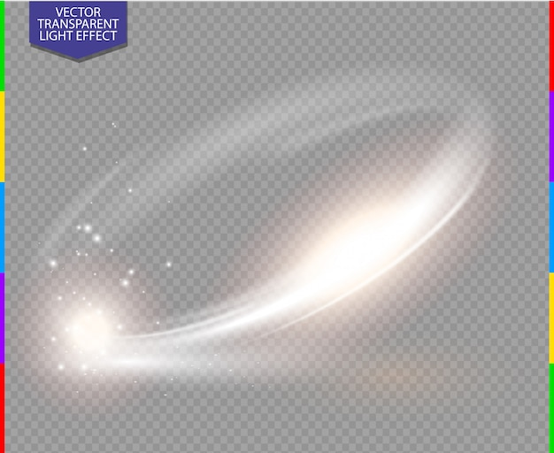 Bagliore circolare effetto luce trasparente.