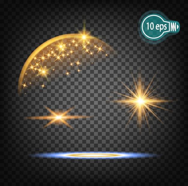 Bagliore cosmico stella di natale nello spazio distante