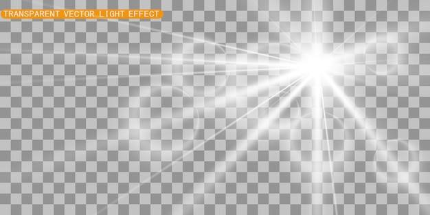 Bagliore di luce effetto speciale. illustrazione