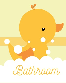 Bagno in gommapiuma di gomma gialla