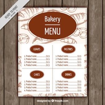 Bakery template menu