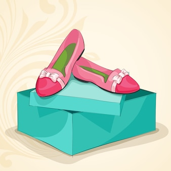 Ballerine rosa donna glamour