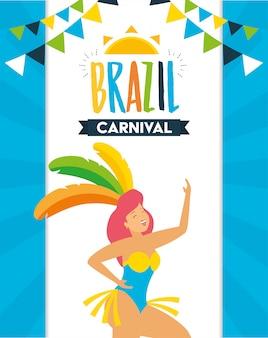Ballerino brasiliano carnevale