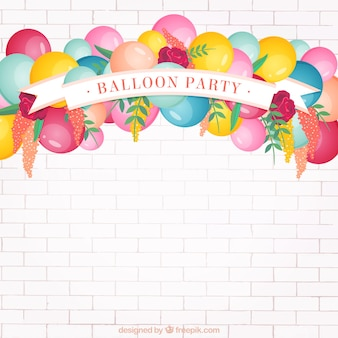 Balloon party background