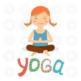 Bambina che fa yoga