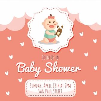 Bambina doccia