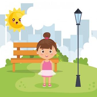 Bambina nel parco