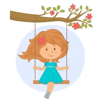Bambina sull'altalena