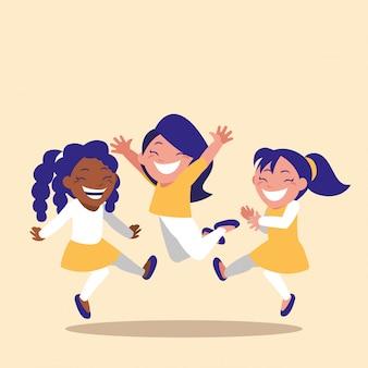 Bambine sveglie che celebrano il personaggio di avatar