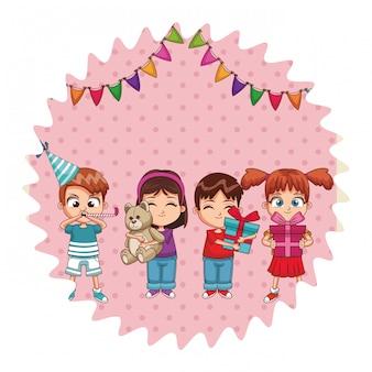 Bambini alla festa di compleanno