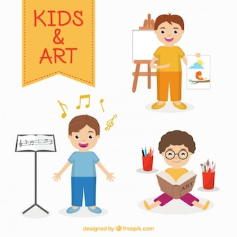 Bambini artisti impostati