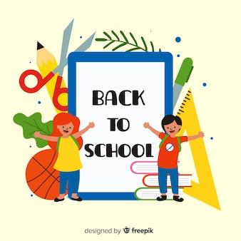 Bambini cartoon torna a scuola