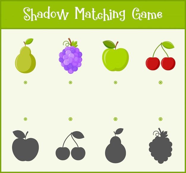 Bambini che imparano il gioco, gioco di abbinamento delle ombre